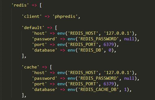 Laravel 使用 PhpRedis 扩展缓存