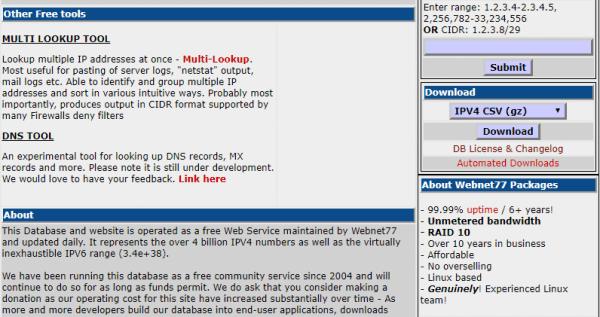 software77.net 下载最新 IP 地址信息